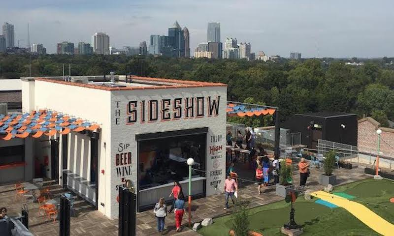Enjoy games, cocktails and spectacular views at Nine Mile Station.