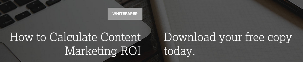 Calculate content marketing ROI Whitepaper