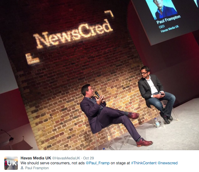 #ThinkContent Tour London NewsCred