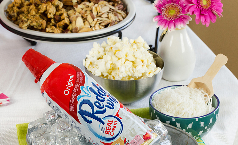 Reddi-Wip, Shredded Coconut and Popcorn