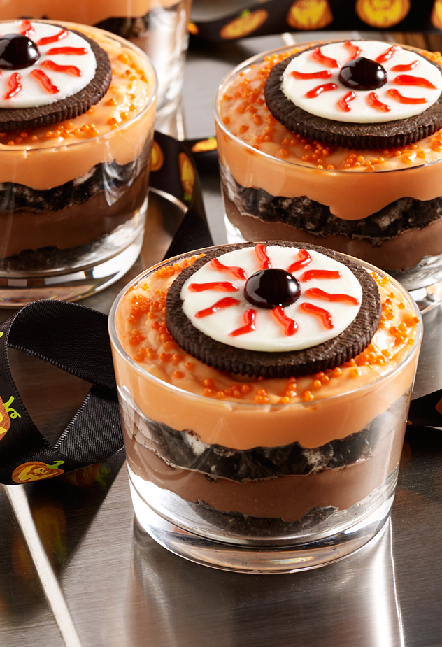 Spooky Eyeball Pudding Halloween Recipe