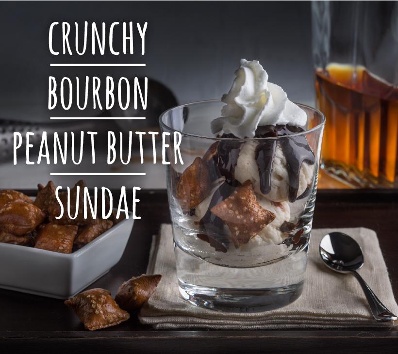 Crunchy Bourbon Peanut Butter Sundae
