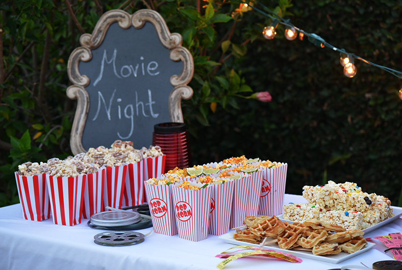 Outdoor Movie Night Snack Ideas